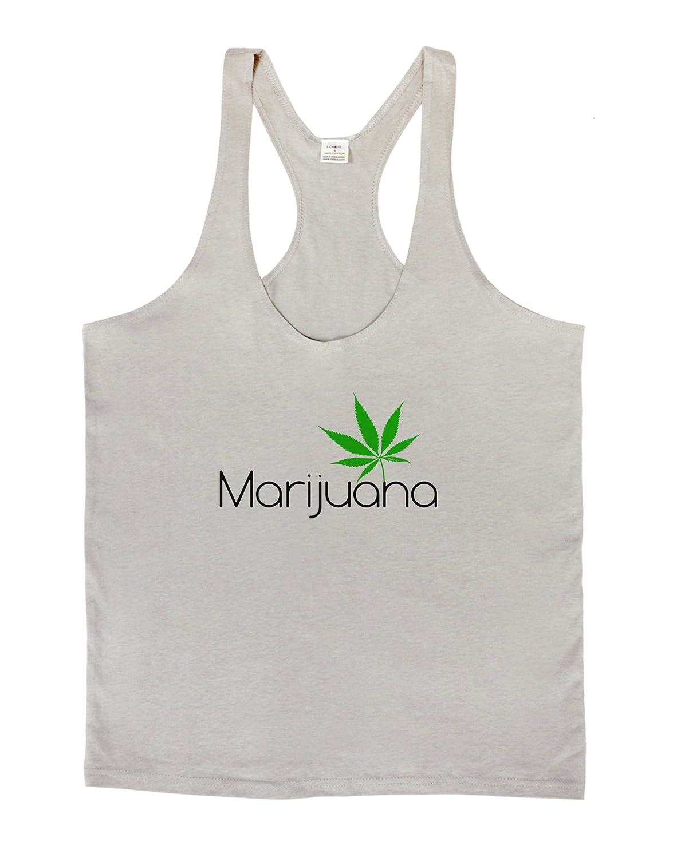 Marijuana Text and Leaf Mens String Tank Top