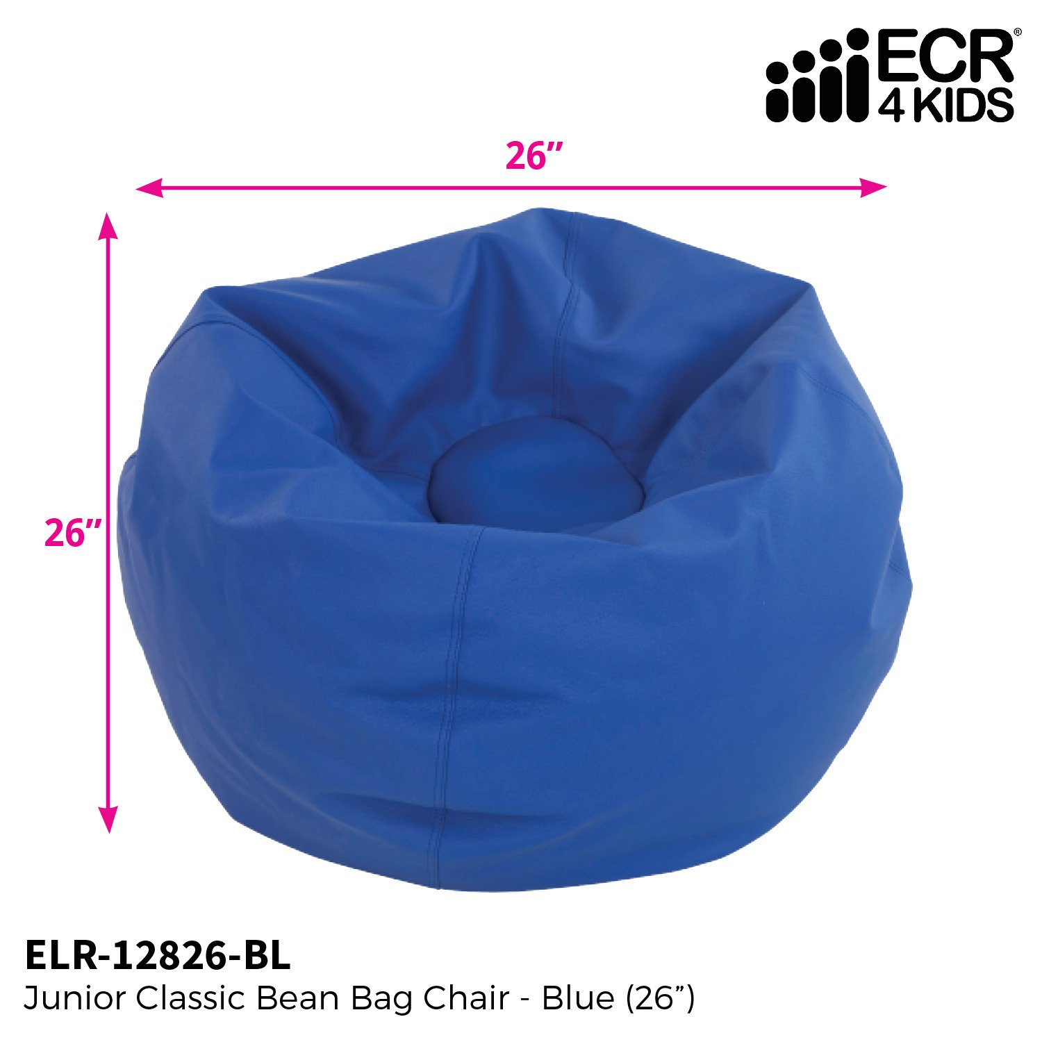 Strange Ecr4Kids Junior Classic Bean Bag Chair Blue 26 Andrewgaddart Wooden Chair Designs For Living Room Andrewgaddartcom