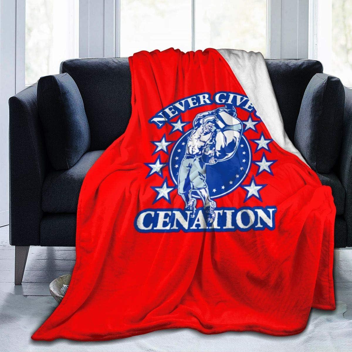 WWE John Cena Never Give Up Fleece Blanket