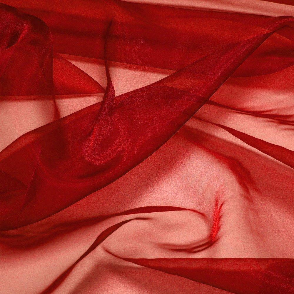 MDSパック10ヤードブライダルのソリッド薄手のオーガンジー生地ウェディングドレス用ボルト、ファッション、工芸品、装飾シルク光沢オーガンジー44