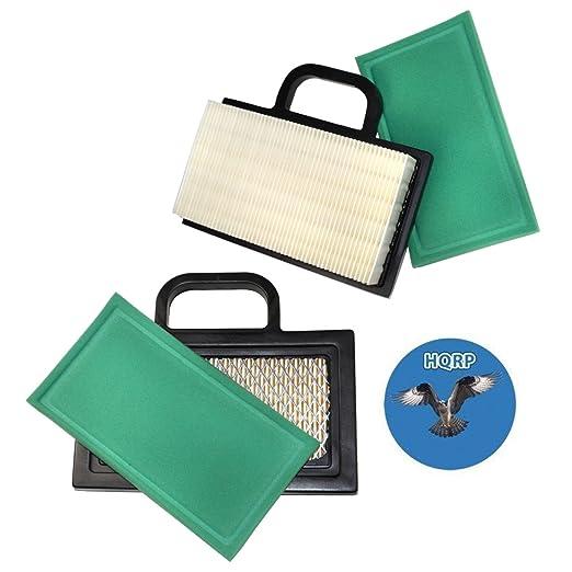 HQRP 2-Pack cartucho de filtro de aire w/pre-cleaner para ...