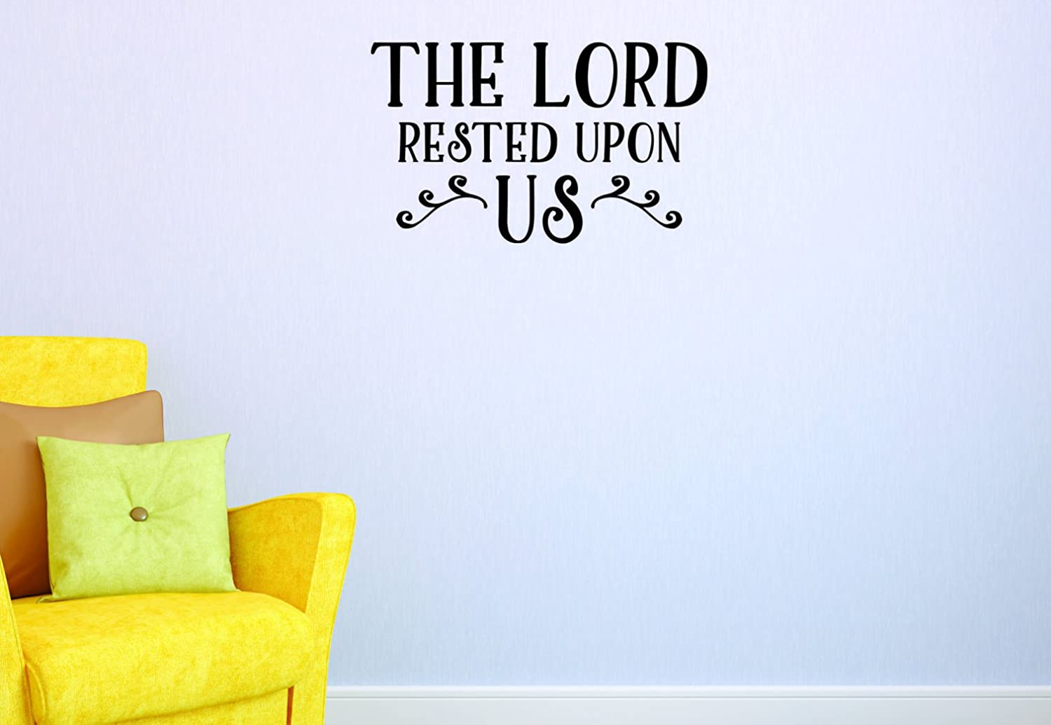 20 Inches x 30 Inches Color Black Design with Vinyl JER 2042 3 Hot New Decals The Lord Rested Upon Us Wall Art Size 20 x 30,
