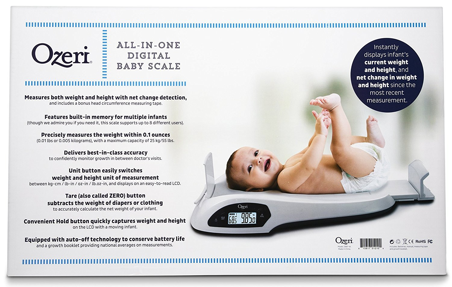 Ozeri All-in-One Baby and Toddler Scale - with Weight and Height Change Detection by Ozeri (Image #7)