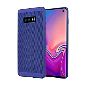 Olixar for Samsung Galaxy S10e Slim Case - Heat Dissipating Mesh Cover - MeshTex - Cooling Case - Wireless Charging Compatible - Blue