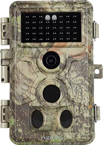 Game Deer Trail Camera with Night Vision 16MP 1080P 0.2S Trigger Speed Motion Activated No Glow Time Lapse IP66 Waterproof for Wildlife Hunting and Home Office Yard Security, Photo Video Model