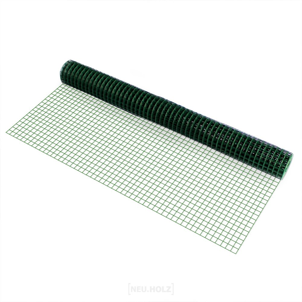 pro.tec] Drahtgitter (4-Eck)(1m x 5m)(grün) Schweißgitter ...