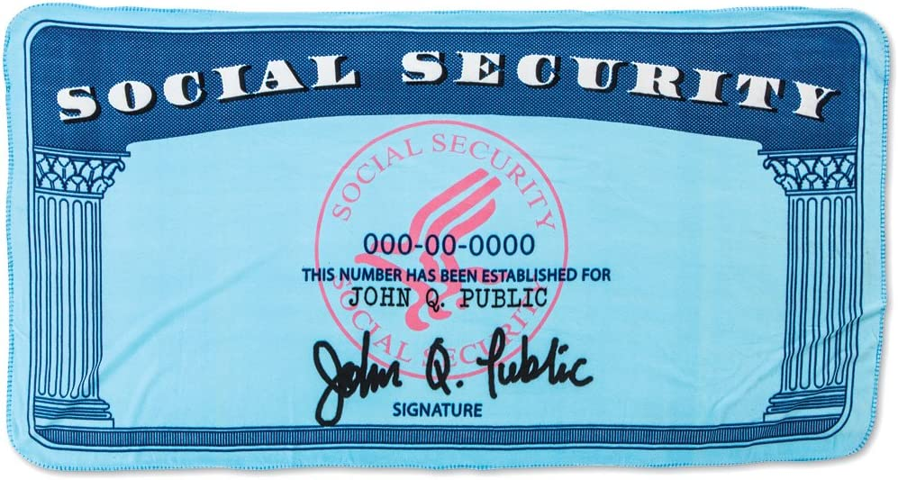 Polyester Social Security Card Design Novelty Decorative Soft Throw Blanket Amazon Ca Home Kitchen