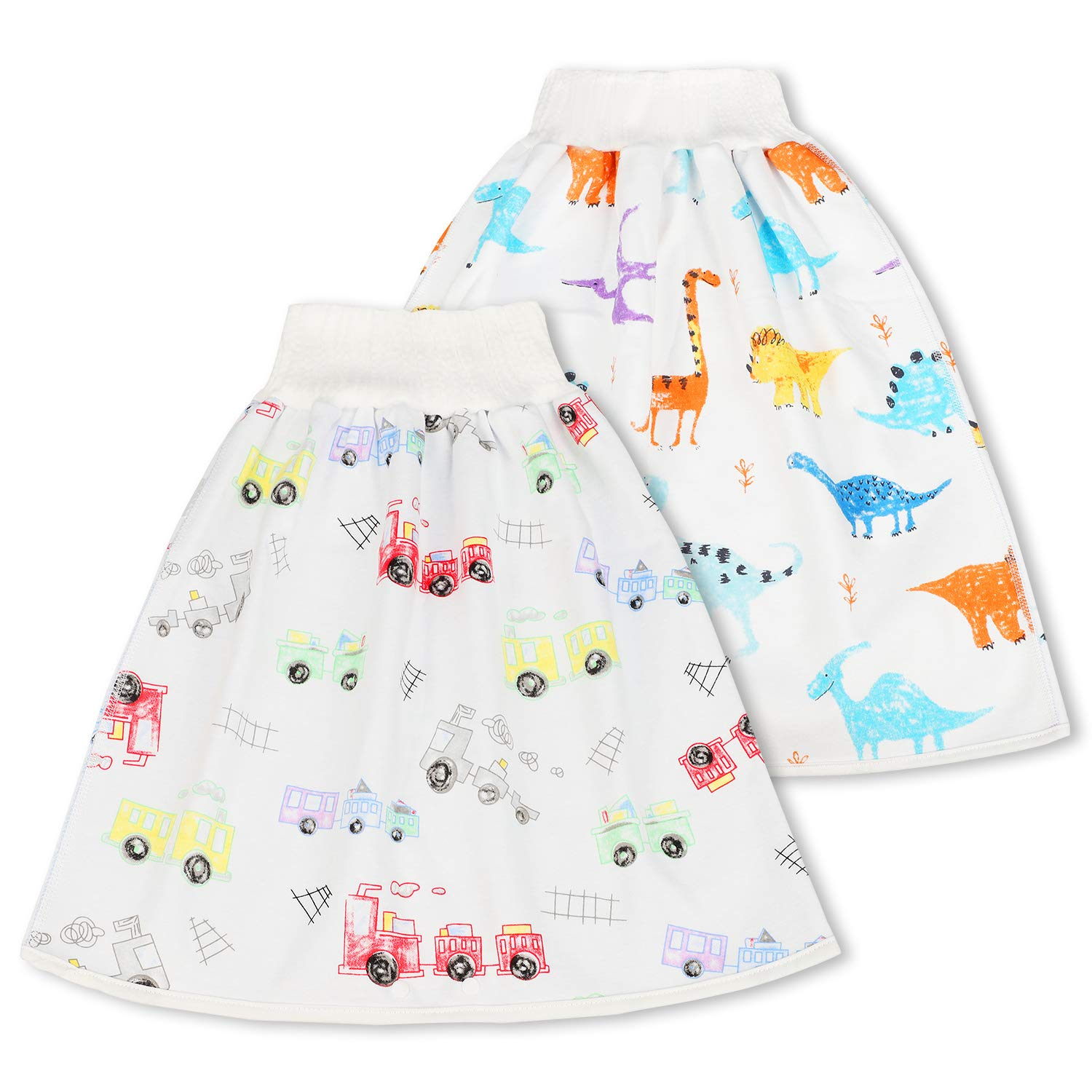 Potty Training Underwear Waterproof Bamboo Good Night Diapers Cloth Panties Washable Reusable for Baby Toddler bedwetting Training Skirt by VieGreenleaf