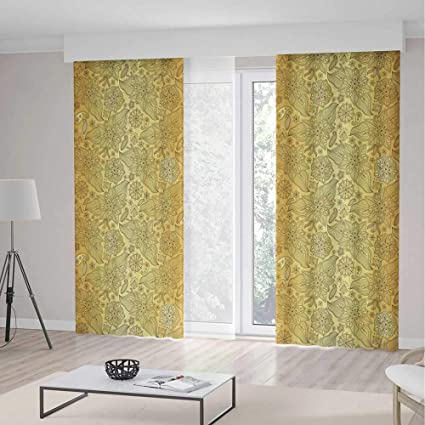 Window Blackout CurtainsGold Mandala For Bedroom Living Dining Room Kids Youth RoomFlourish