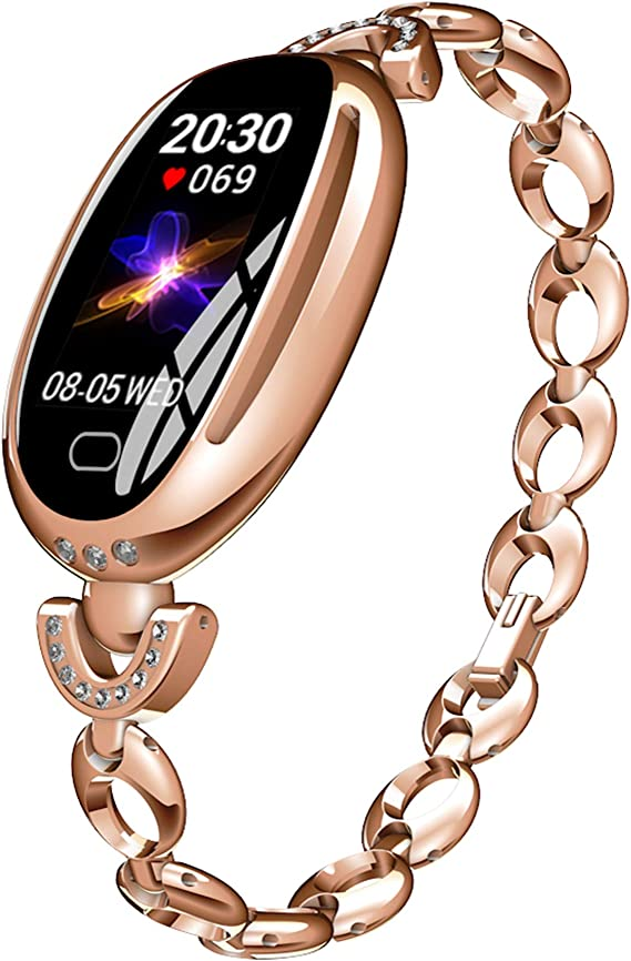 Smart Watches for Women Luxury Diamond Bracelet Heart Rate Pedometer Wristwatch Calorie Counter Blood Pressure Sport Watch Fitness Tracker