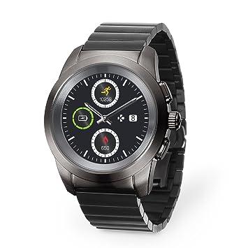 MyKronoz ZeTime Elite Reloj Inteligente híbrido 44mm con Agujas mecánicas Sobre una Pantalla a Color táctil: Amazon.es: Electrónica