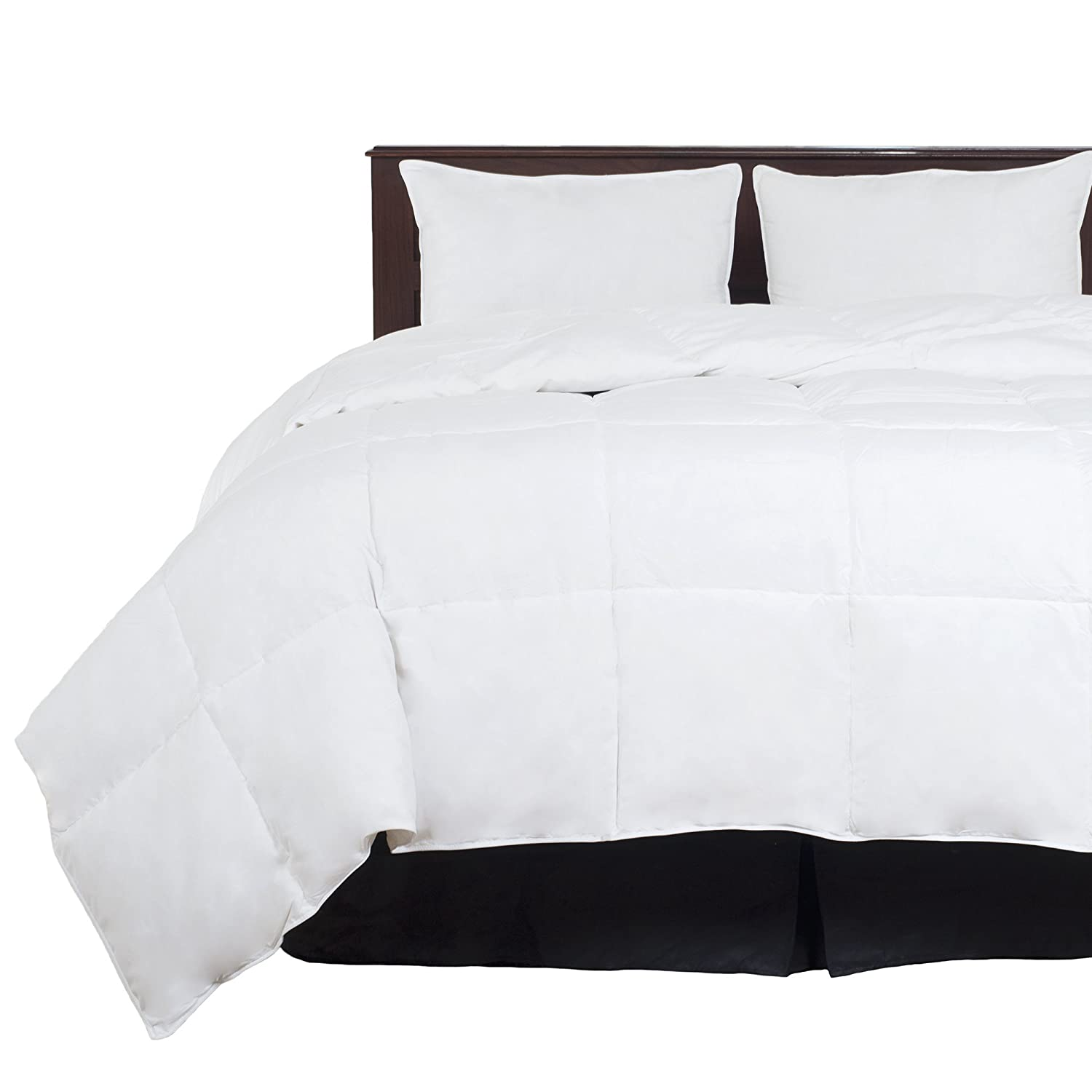 Amazon.com: Lavish Home Full/Queen Comforter, White Goose Down Alternative Comforter, Hypo-Allergenic, Quilted Box Stitched, All Season Bed Comforter: Home ...