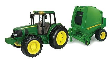 Amazoncom Tomy John Deere Big Farm Tractor Baler Toys Games