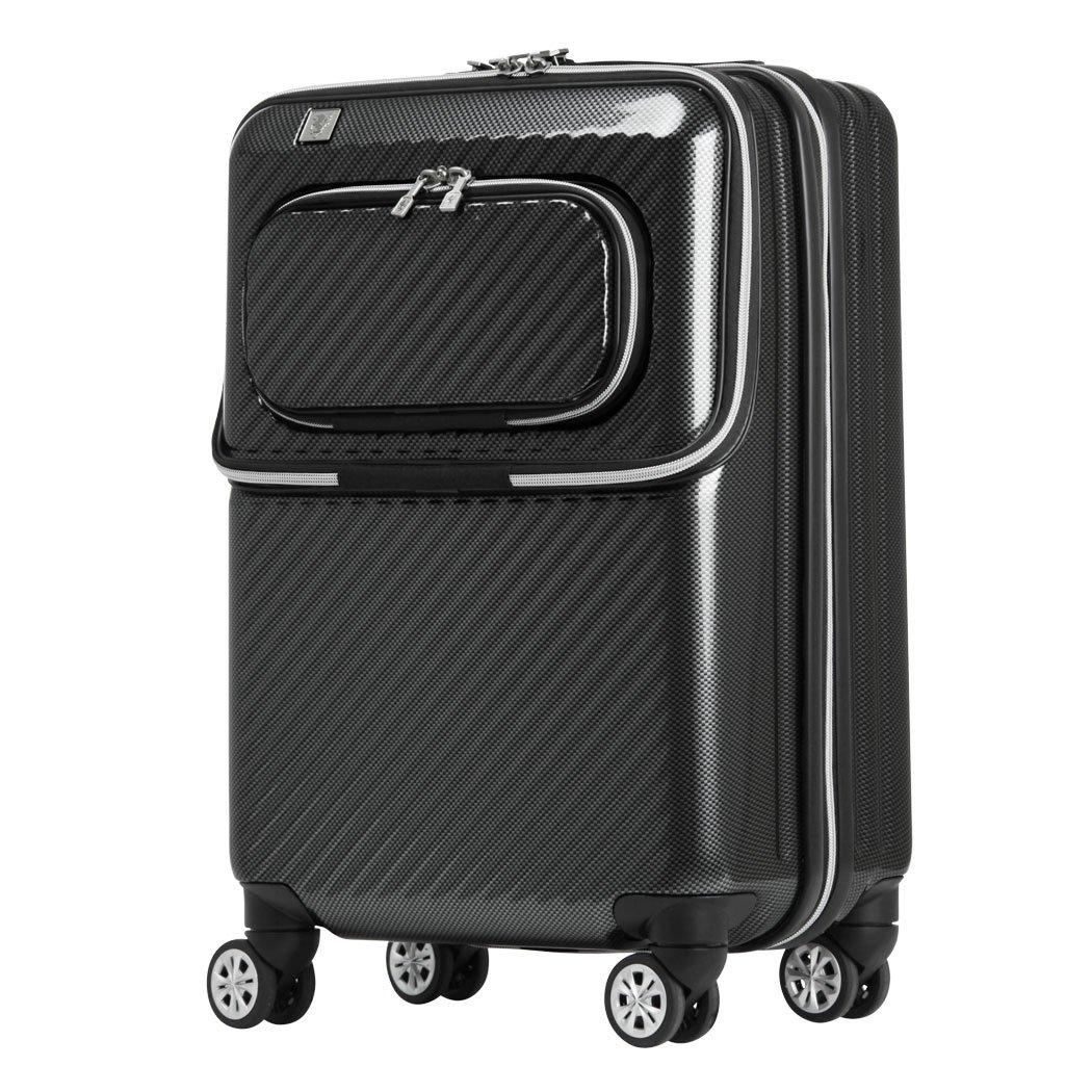 [アウトレット] スーツケース キャリーバッグ キャリーバック キャリーケース 機内持ち込み 可 小型 SS サイズ ダブルフロントオープン PCポケット 保温保冷 ダブルキャスター   B07PPC5945