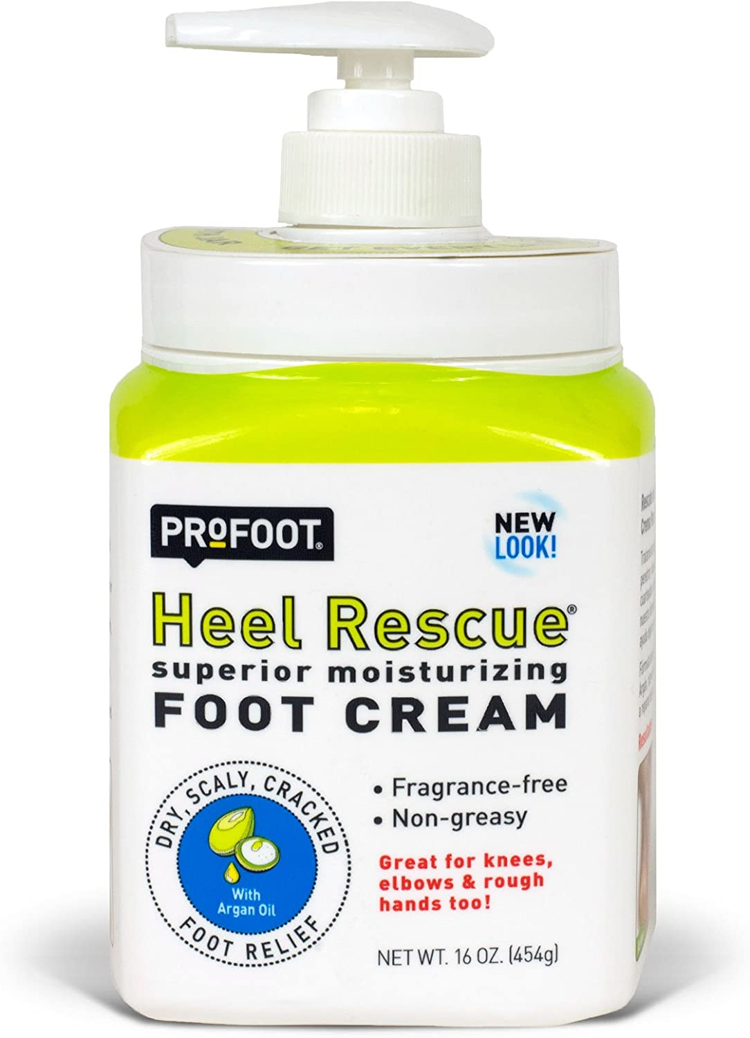 PROFOOT Heel Rescue Foot Cream, 16 Ounce (Pack of 3) Non-Greasy Foot Cream Ideal for Cracked Skin Calloused Skin or Chapped Skin on Feet Heels Elbows and Knees, Penetrates Moisturizes and Repairs