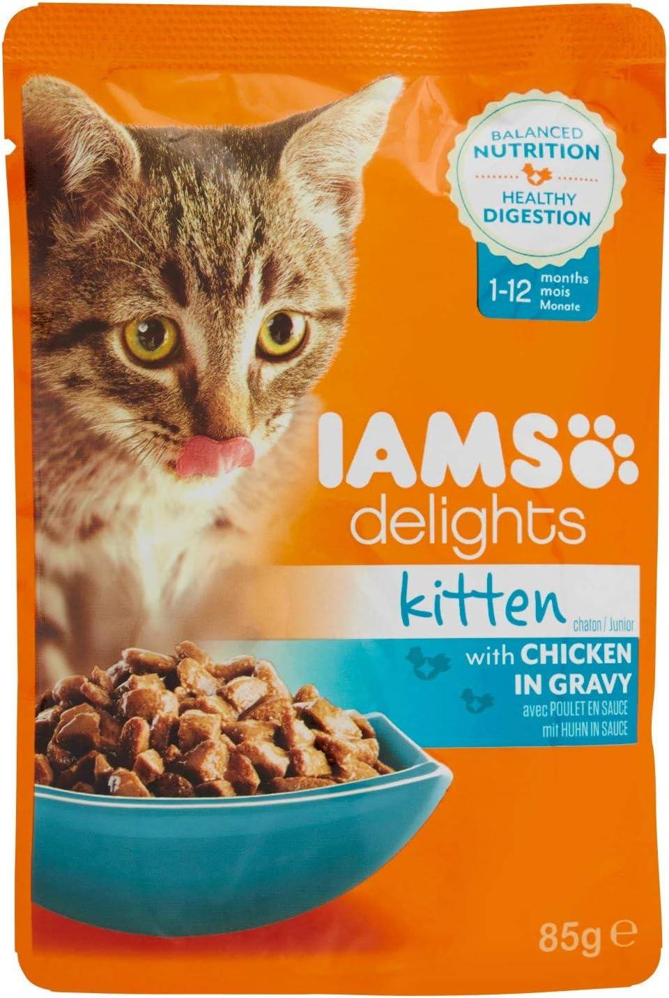 Iams Kitten Delights Chicken Gravy 85 G Amazon Co Uk Pet Supplies