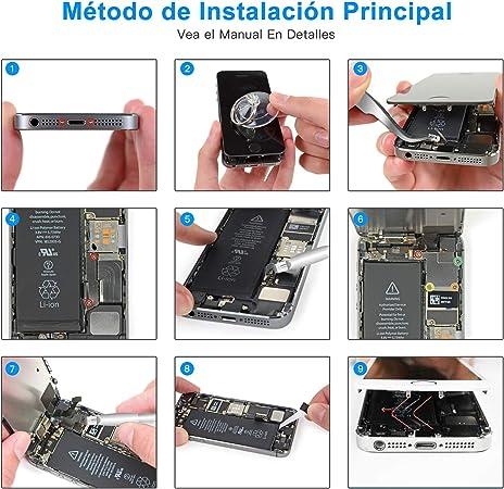 Batería para iPhone 5S, Alta Capacidad Li-Ion 1850mAh con Kits de ...