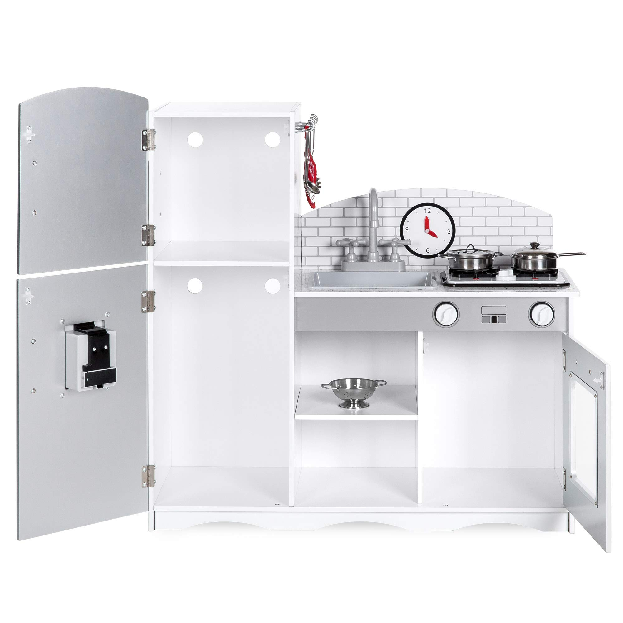 Best Choice Products Play Kitchen Set with 4 Utensils, Sounds, Sink, Fridge, Stovetop by Best Choice Products (Image #4)