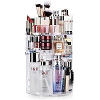 Auxmir Organizer na kosmetyki, obracany o 360°, do przechowywania kosmetyków, do sypialni, łazienki, przezroczysty