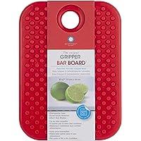 Tabla para picar de cocina Gripper antiderrapante material sintético color rojo, apta para lavavajillas y no quita el…