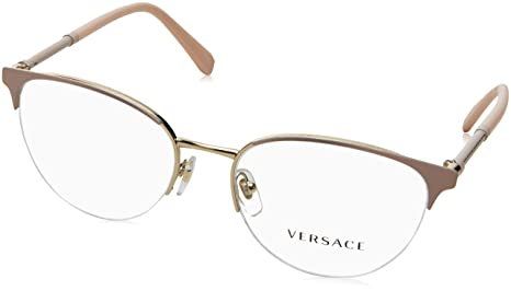 46e08e533a09 Image Unavailable. Image not available for. Colour  Versace Glasses Frames  1247 1407 Matte Pink and Pale Gold 52mm Womens