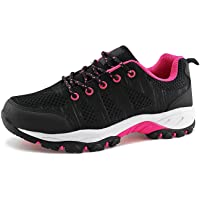 JABASIC Women Hiking Shoes Breathable Mesh Athletic Outdoor Sneakers