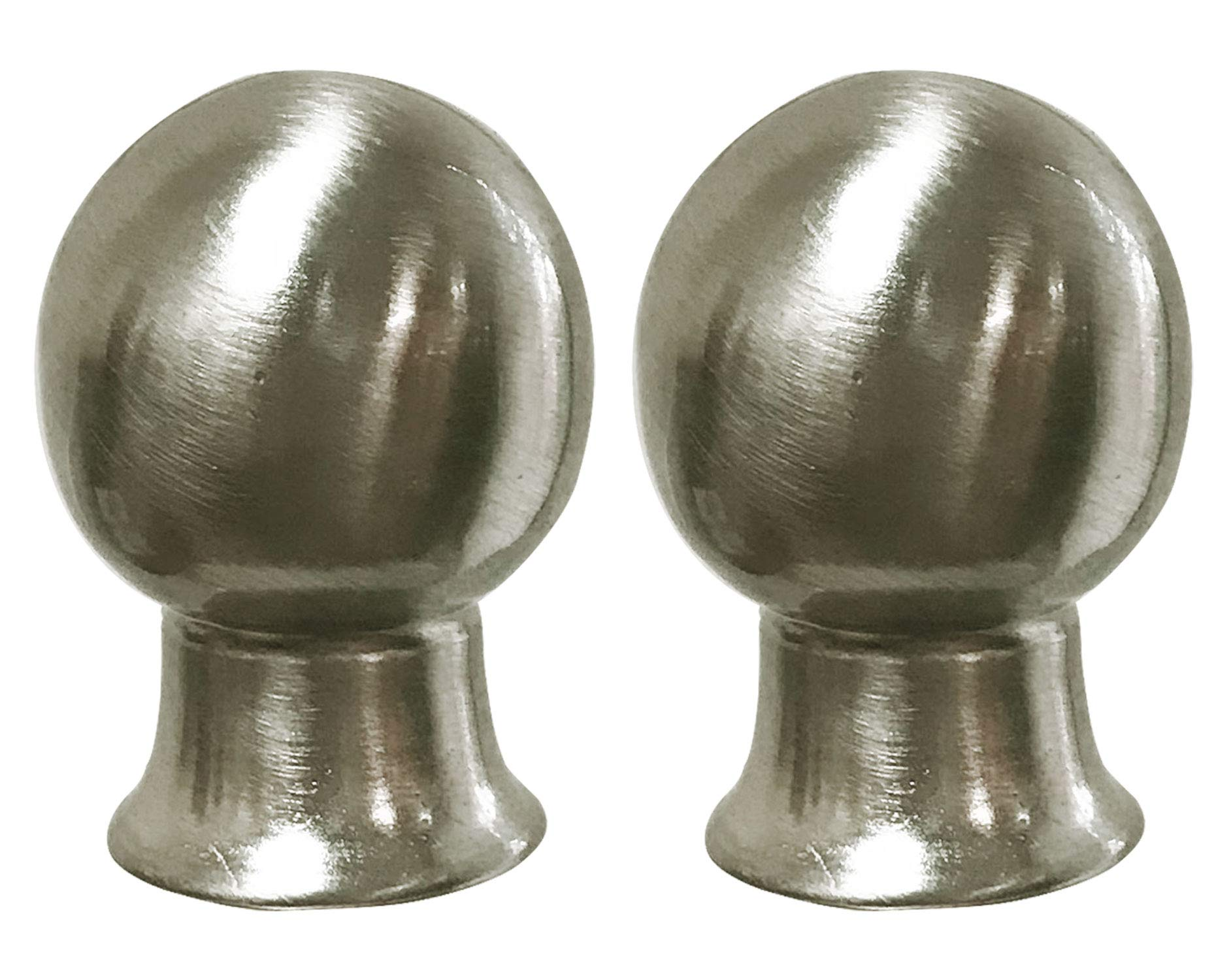 Royal Designs F-7013BN-2 Ball Finial, Brush Nickel, Set of 2