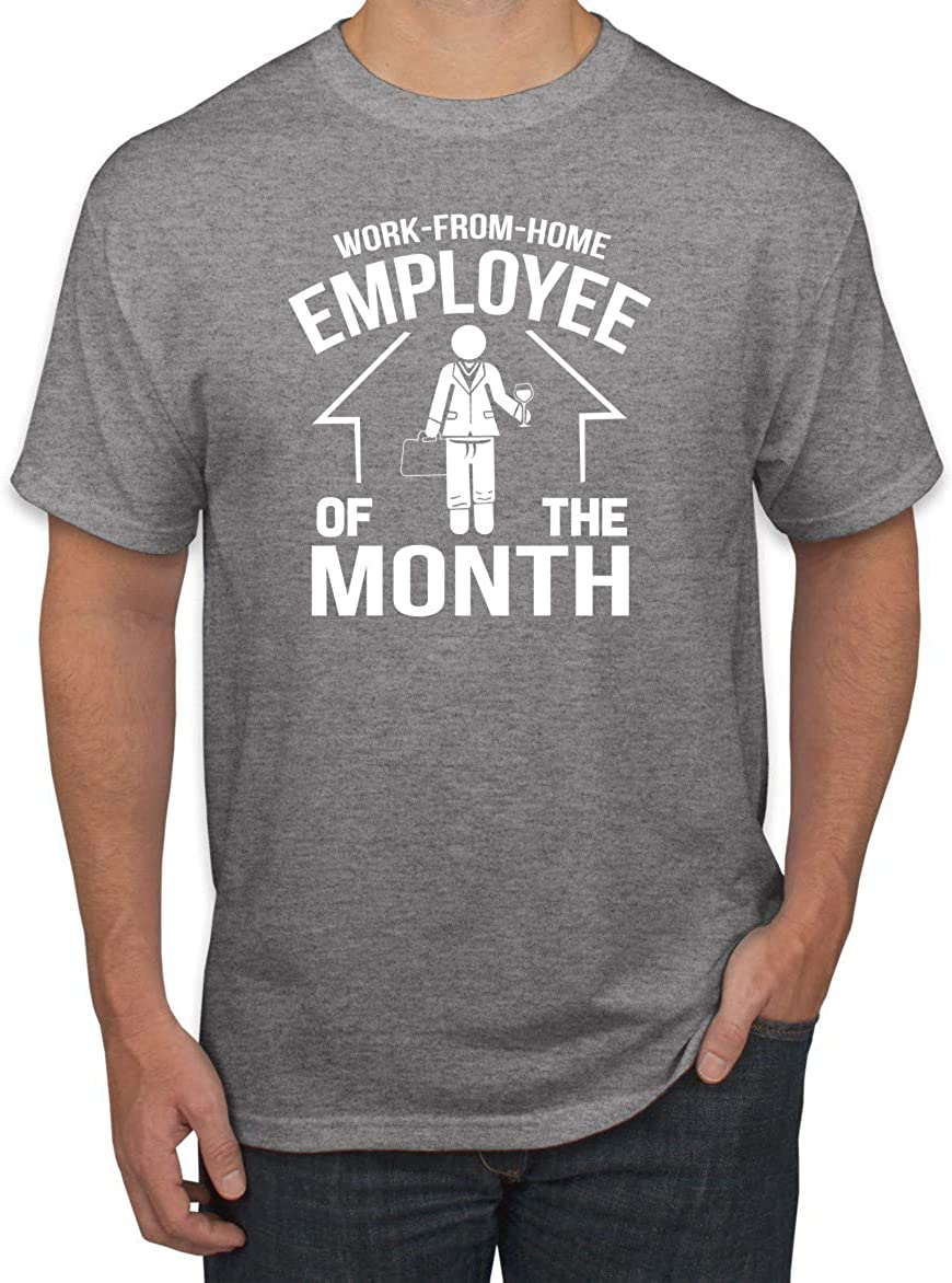 Wild Bobby Work from Home Employee of The Month 2020 Quarantine Stay Home Flu Pandemic Pop Culture Men's Graphic Tee