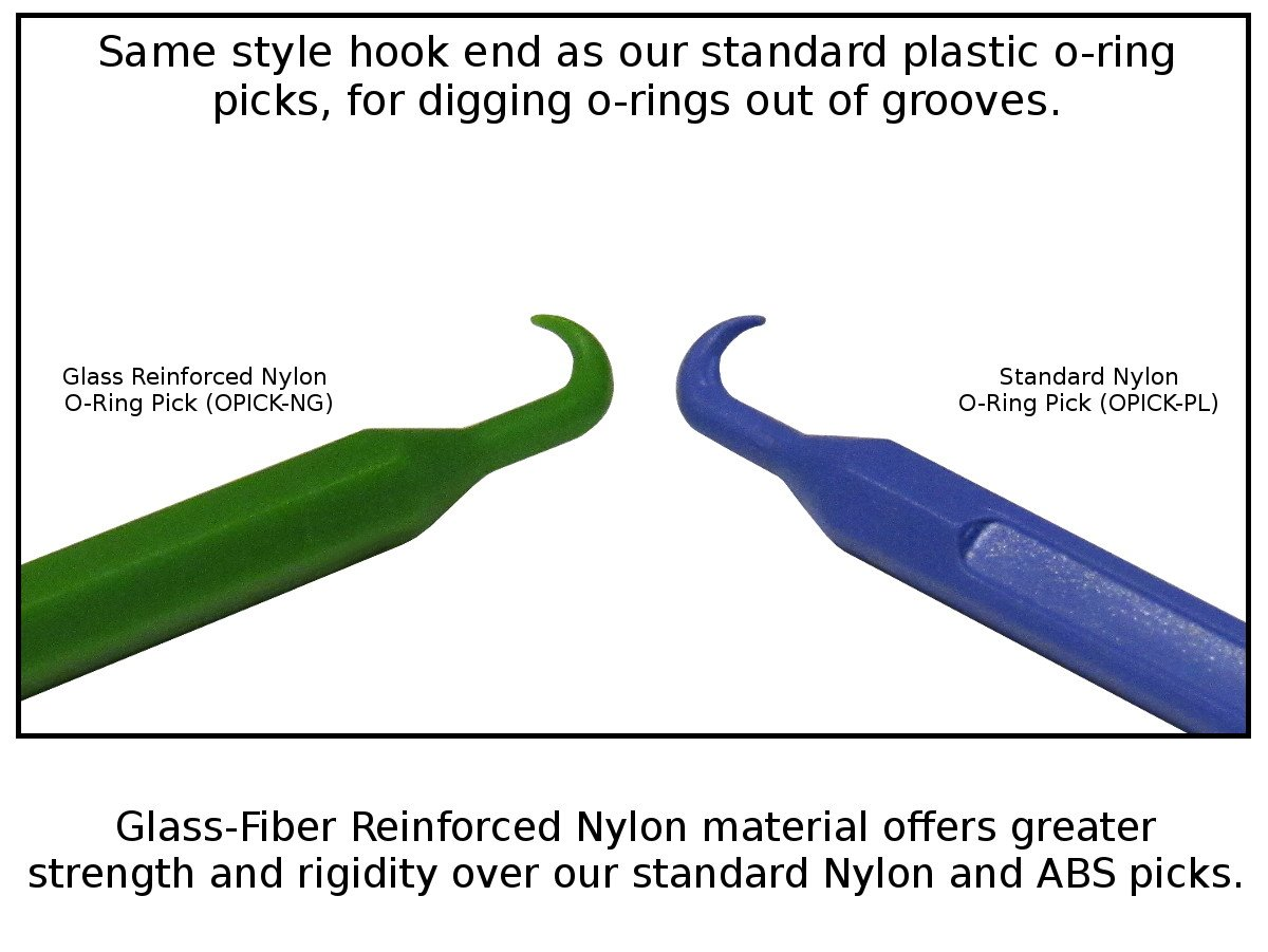 Premium O-Ring Pick Tool - Glass Fiber Reinforced Nylon (No Scratch ...