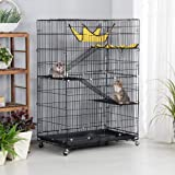 Topeakmart 4-Tier Foldable Kitten Cat Home Cages