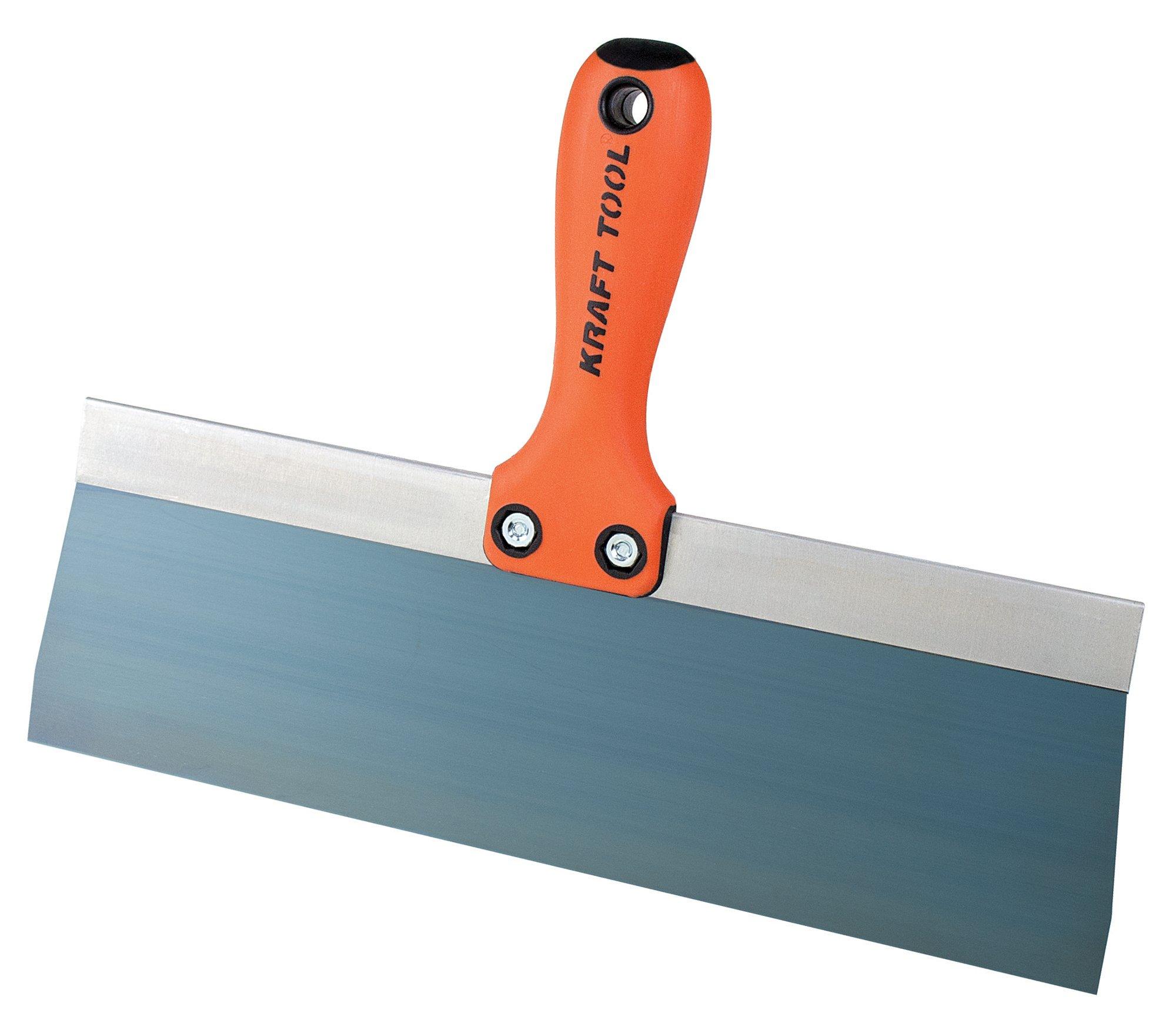 Kraft Tool DW812PF Standard Taping Knife with Preform Soft Grip Handle, 12-Inch x 3-Inch, Orange