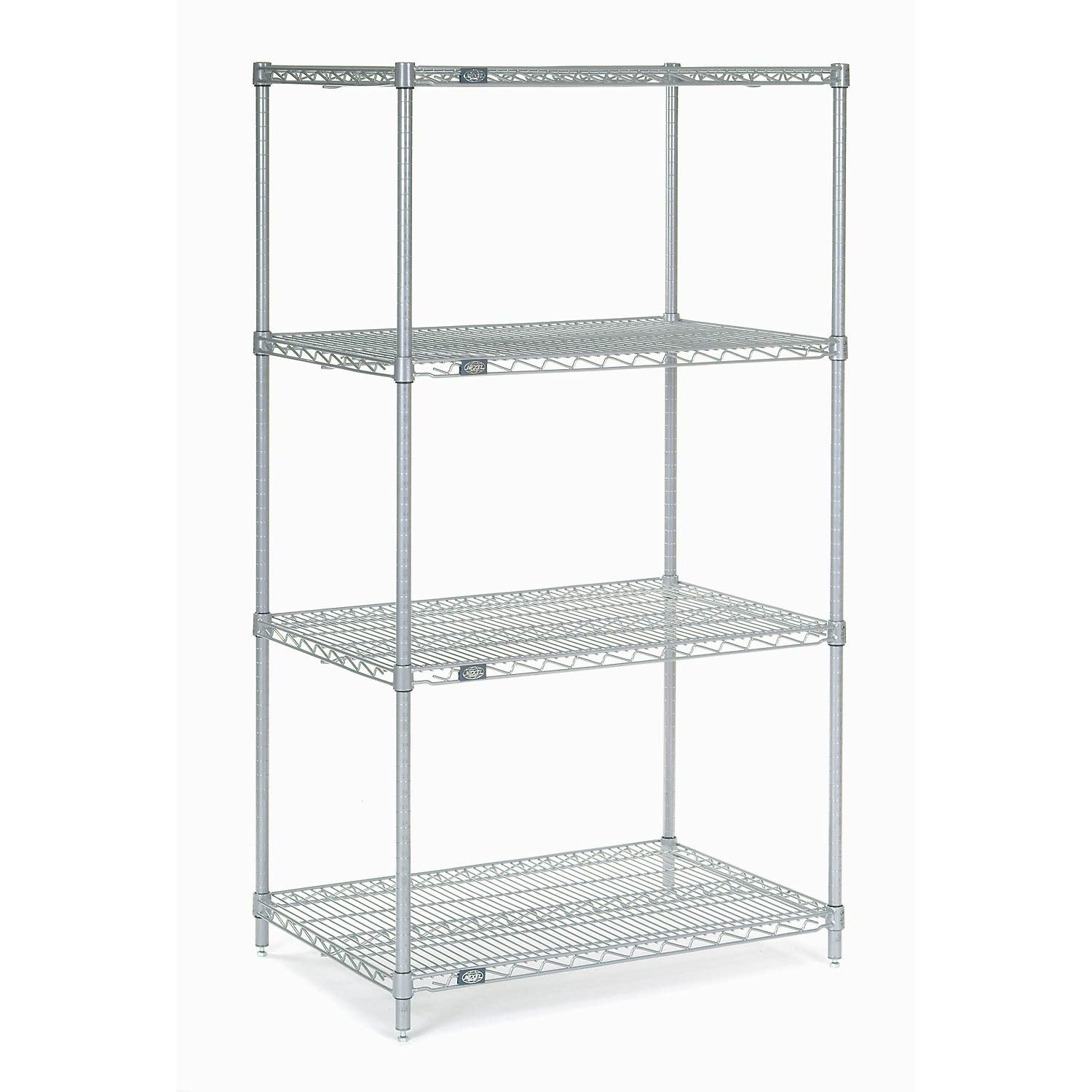 Chrome Wire Shelving, 24''W X 18''D x 54''H by Global Industrial