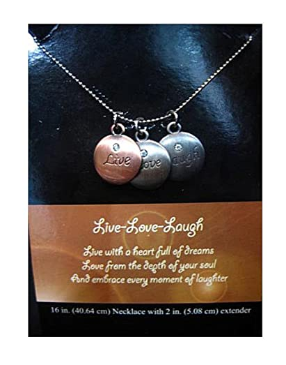 Amazon tokens of inspiration live love laugh pendant necklace tokens of inspiration live love laugh pendant necklace with verse jewelry gift inspirational aloadofball Gallery
