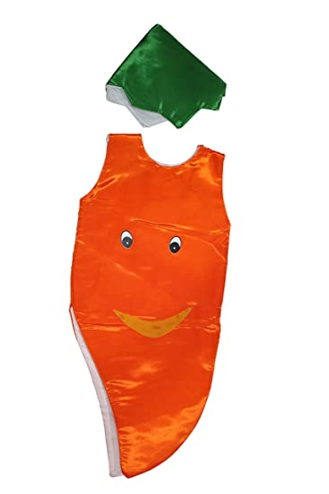 84f4fe80a884 Buy KAKU FANCY DRESSES Carrot Fruits Costume only Cutout with Cap for  Annual Function/Theme Party/Competition/Stage Shows/Birthday Party Dress  Online at Low ...