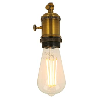 Bombilla LED E27 Edison Vintage transparente ST64 7,5 W 2200 K 805 lm regulable
