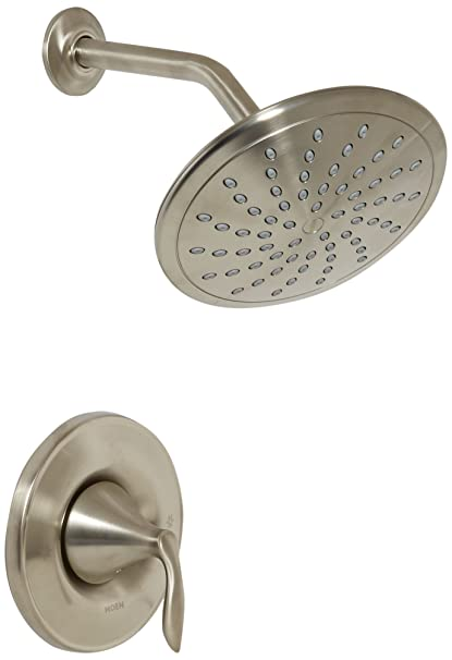 Moen T2232EPBN Eva Shower Only System With Rainshower Showerhead Without  Valve, Brushed Nickel