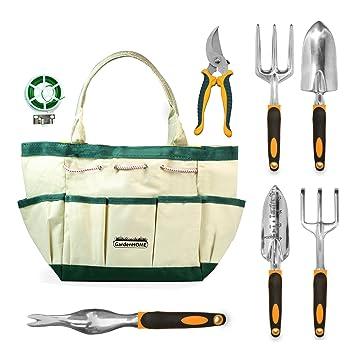 Kit Outils de Jardinage - Sac de Jardin avec 8 Outils de Jardin ...