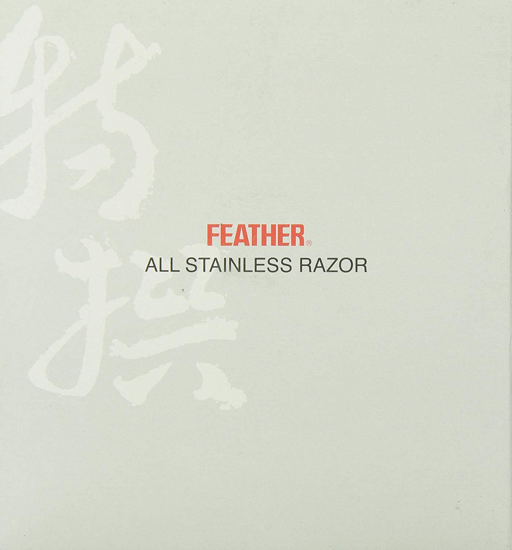 Feather AS-D2 - Feather All Stainless Razor - Feather Razor+5 Black Double Edge Blades