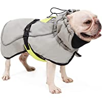 Chaleco de invierno impermeable para perros pequeños, medianos y grandes, color gris y XXXL