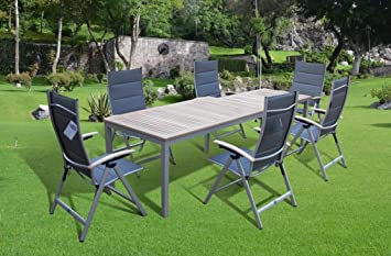 Bukatchi - Conjunto de mesa y sillas (7 piezas, 6 sillas ...