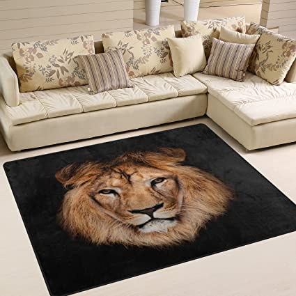Admirable Alaza Hipster Lion Head Black Area Rug Rugs For Living Room Bedroom 7 X 5 Download Free Architecture Designs Crovemadebymaigaardcom