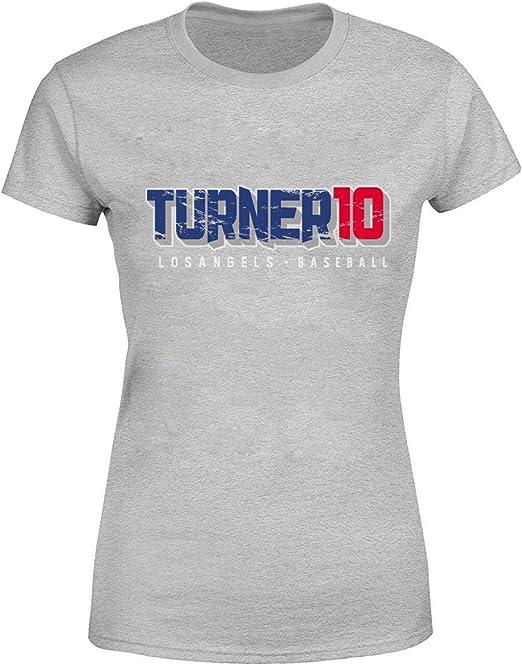 Justin Turner – Camisa de béisbol Los Angeles para Mujer - Gris - De Las Mujeres XXX-Large: Amazon.es: Ropa y accesorios