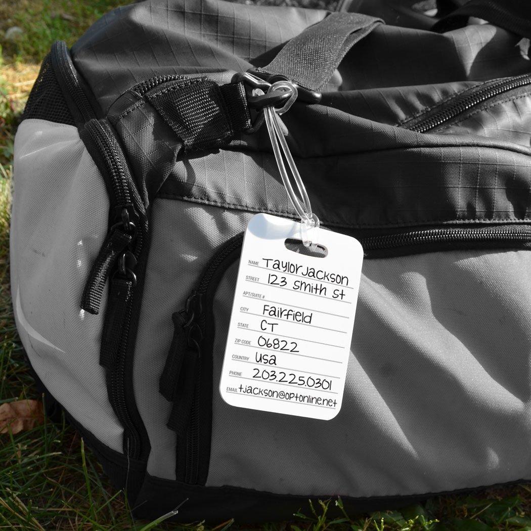Football Luggage & Bag Tag | Personalized Football Team Helmet | Standard Lines on Back | MEDIUM | BLACK/YELLOW by ChalkTalkSPORTS (Image #6)