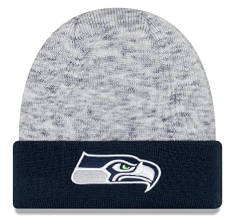 super popular 06a48 8e05d Image Unavailable. Image not available for. Color  New Era Seattle Seahawks  NFL Chiller Tone Cuffed Knit Hat