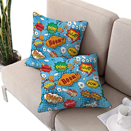 Amazon.com: Superhero Square Square Cushion Case ,Colorful ...