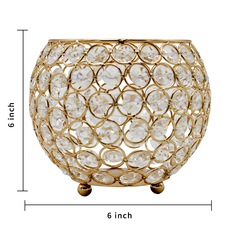 Wedding Coffee Table Decorative Centerpieces for Home D/écor Party Mothers Day Birthday House Gifts Joynest Crystal Tea Light Candle Lantern Holders 4, Silver
