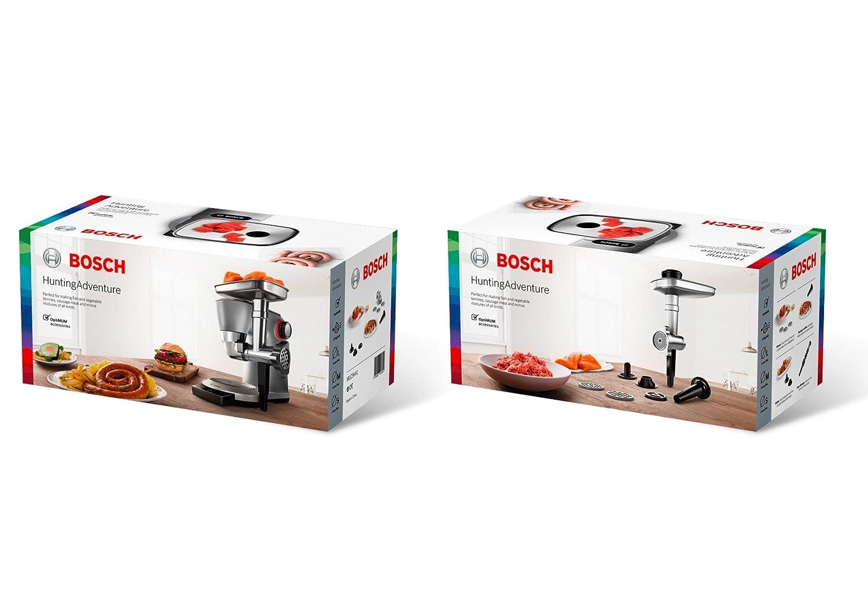 Bosch MUZ9HA1 Set picador de carne y verduras para robots de cocina OptiMUM Aluminio, Acero y negro: Amazon.es: Hogar