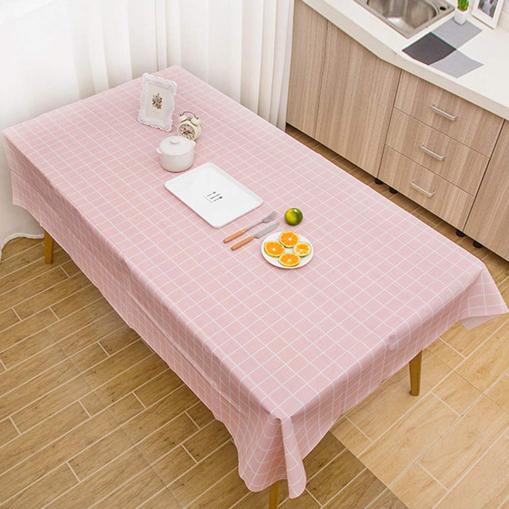 Dreamyth Large Plastic Rectangle Table Cover Cloth Wipe Clean Party Tablecloth Covers