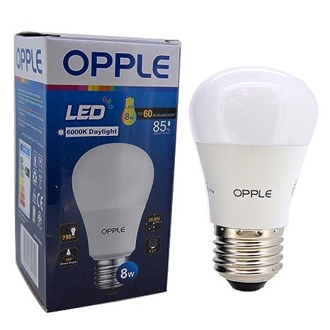 OPPLE Ecomax E27 8 W bombilla LED, luz fría, al por mayor Lote de