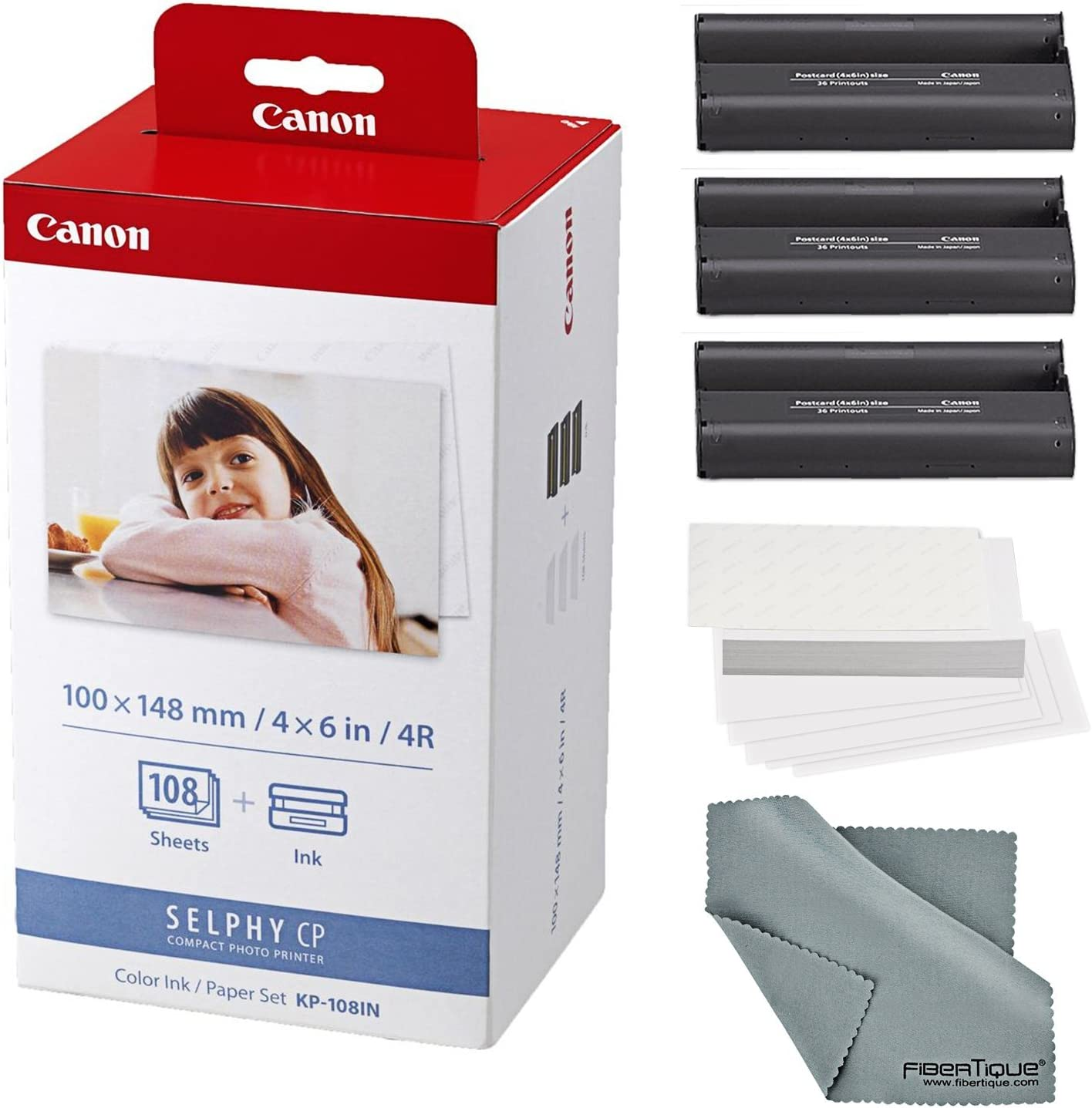 Canon KP-108IN Color Ink Paper Set 108 Sheets For SELPHY Compact Photo Printer